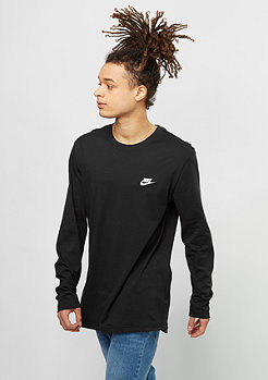 NIKE Longsleeve Top Club black/white