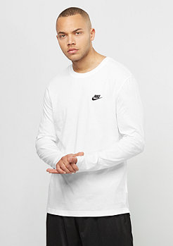 NIKE Longsleeve Top Club white/black