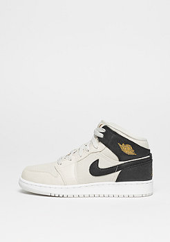 JORDAN Basketballschuh Air Jordan 1 Mid light bone/metallic gold/black