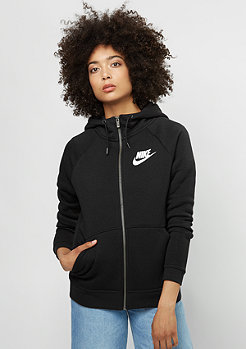 Hooded-Zipper Rally black/black/white