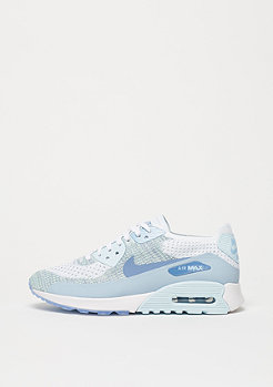 NIKE Air Max 90 Flyknit Ultra 2.0 white/light armory blue