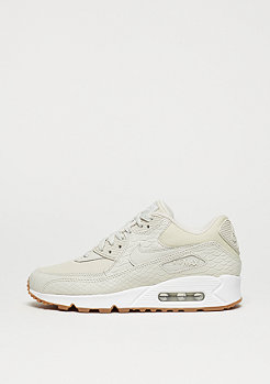 NIKE Schuh Wmns Air Max 90 Premium light bone/light bone/gum yellow