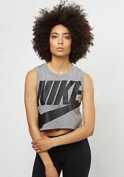 NIKE Essential Tank Crop carbon heather/anthracite