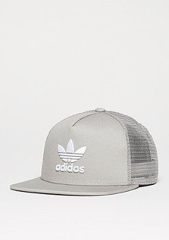 Trucker-Cap Trefoil solid grey