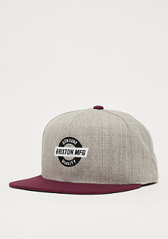 Brixton Newell light heather grey/burgundy