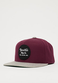 Brixton Wheeler burgundy/heather grey