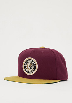 Brixton Rival burgundy/gold