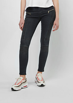 Sixth June Jeans-Hose Biker Denim black