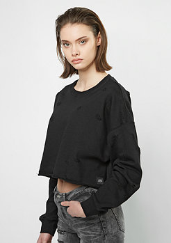 Sixth June Destroyed Oversized Cropped black
