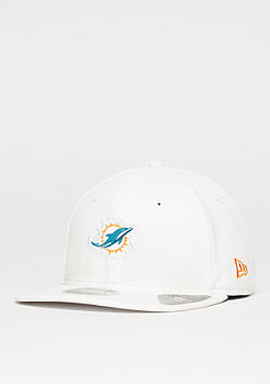 New Era Snapback-Cap 9Fifty Border Edge Pique NFL Miami Dolphins optic white