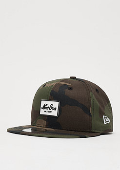New Era 9Fifty Rubber Script Patch woodland camo
