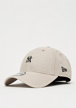 New Era 9Forty Linen Small Logo MLB New York Yankees stone
