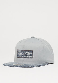 Mitchell & Ness Solid Crown Space Knit Visor grey/blue