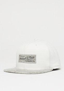 Mitchell & Ness Solid Crown Space Knit Visor cream/grey
