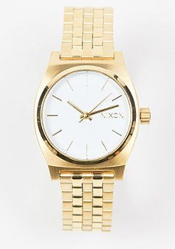 Nixon Medium Time Teller all gold/white