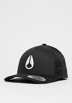 Trucker-Cap Iconed black/white