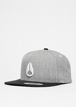 Nixon Snapback-Cap Simon heather grey/black/white