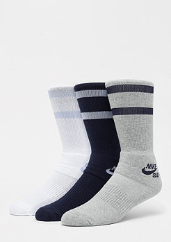 NIKE SB Crew Skateboarding Socks 3er multicolor