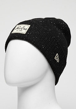 Beanie Fleck Knit Cuff black/stonewhite