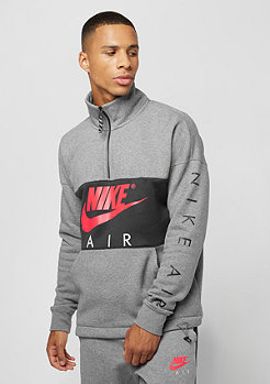 NIKE Top Air HZ FLC carbon heather/anthracite/siren red