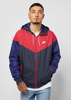 NIKE Windrunner obsidian/university red/white