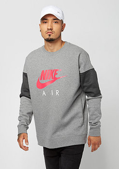 NIKE LS Air carbon heather/anthracite/siren red