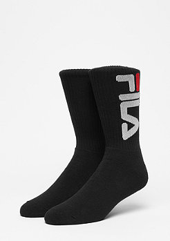 Unisex Tennis Socks 2-Pair F9598 black