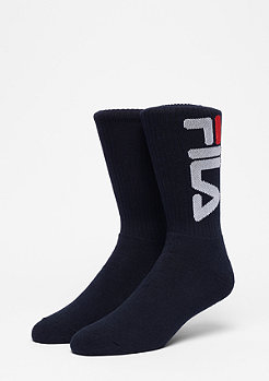 Fila Unisex Tennis Socks 2-Pair F9598 navy