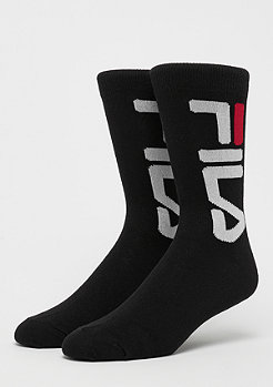 Fila FILA Unisex Normal Socks 2-Pair F9632 black