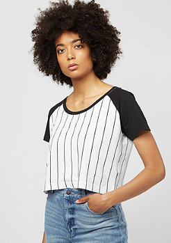 Urban Classics Ladies Cropped Baseball wht/blk