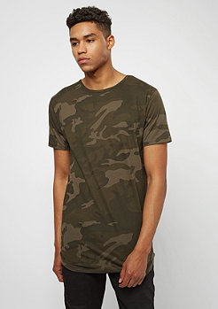 Urban Classics Camo Shaped Long olive
