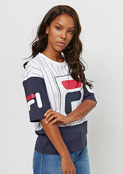 Fila Urabn Line Tee Cropped Late PRT stripe-bright white