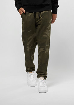 Urban Classics Camo Sweat olive camo/black
