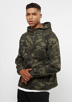 Cayler & Sons ALLDD Denim Half Zip Hoody washed woodland