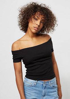 Urban Classics T-Shirt Off Shoulder Rib black