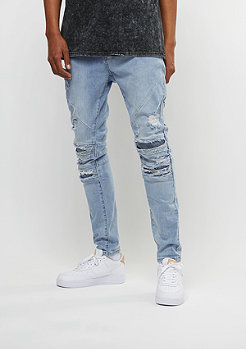 Cayler & Sons ALLDD Denim Pants Paneled Inver. Biker ripped light blue