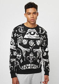 Criminal Damage CD Sweater Illuminate black/white