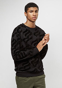 Rocawear Retro Velour Crewneck black