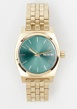 Nixon Medium Time Teller light gold/turquoise