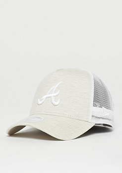 New Era Jersey Essential Trucker Atlanta Braves stone/optic white