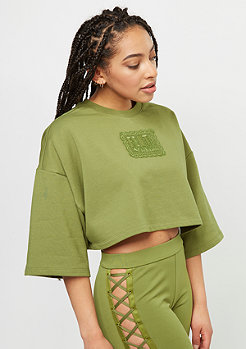 Puma Fenty by Rihanna Cropped Crew Neck olive branch
