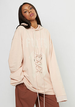 Puma Fenty by Rihanna Long Sleeve Graphic FRT Lacing Hoody cameo rose