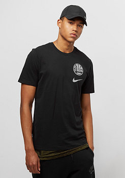 NIKE Basketball Tee NBA Golden State Warriors black/amarillo