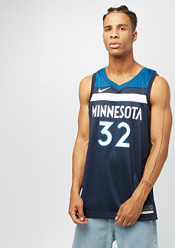 NIKE Basketball Jersey NBA Minnesota Tomerwolves college navy