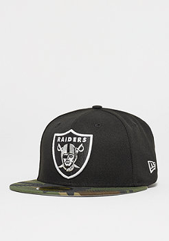 New Era 59Fifty NFL Oakland Raiders woodland camo/ snow gray