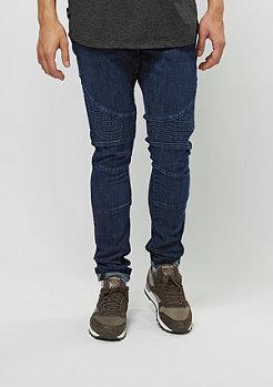Urban Classics Jeans-Hose Slim Fit Biker Jeans dark blue