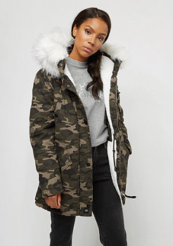 Sixth June Fur Parka camo/white