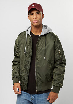Urban Classics Hooded Oversized Bomber olive/grey