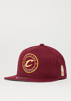 Mitchell & Ness Circle Patch Team NBA Cleveland Cavaliers bordeaux
