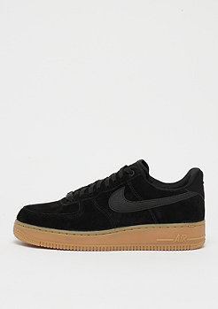 NIKE Air Force 1 07 LV8 Suede black/black/gum red